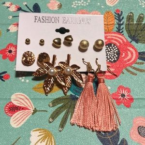 Fashion Earrings set of 6